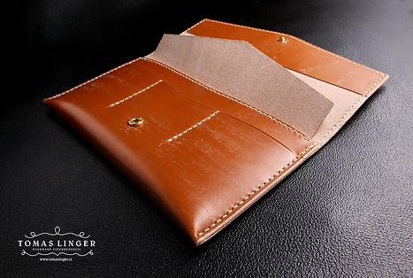 dámská peněženka z kůže ručně vyrobená na zakázku. dárek
