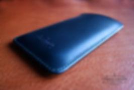 pouzdro pro iphone 8 modrá kůže