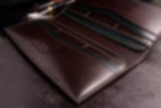pásnká dokladovka ručně vyrobená ručně ušitá