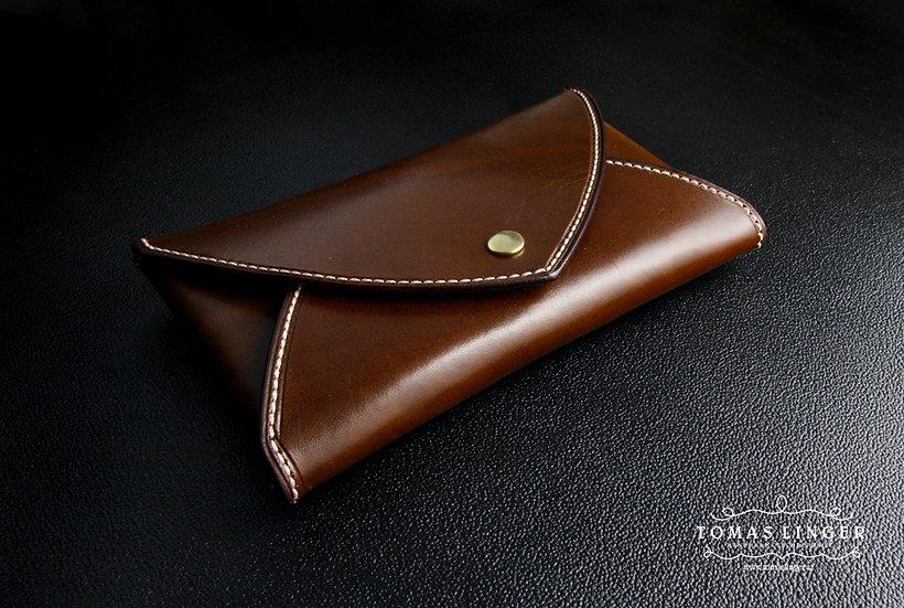 saníčko z kůže - pouzdro pro telefon, peněženka, doklady, pas atd.. ze silné kůž