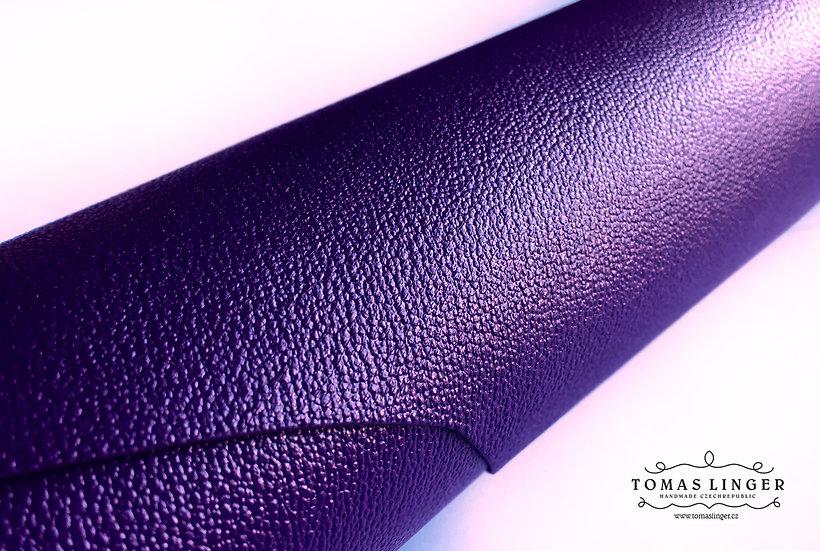 pouzdro pro iphone fialová kůže