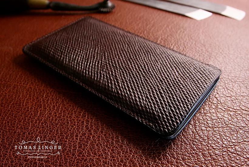 Pouzdro pro Apple iPhone z kůže Russian Calf s podšívkou z kůže - J&FJ Baker