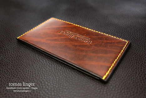 pouzdro pro karty z kůže ručně vyrobené na zakázku.dárek