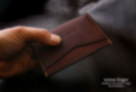 malá slim peněženka z kůže ruční výroba