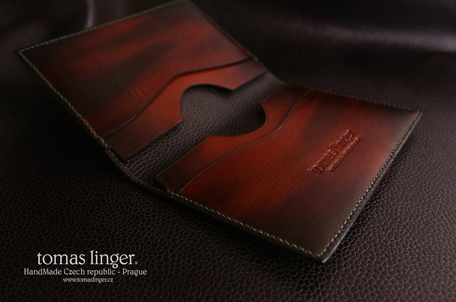 pouzdro pro cestovní pas z kůže ruční práce tomas linger luxusní
