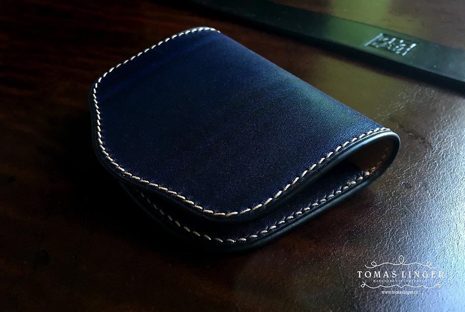 peněženka na drobné z pravé kůže