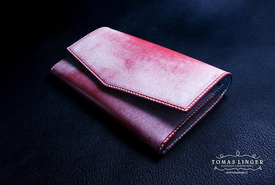 dámská peněženka malinová kůže