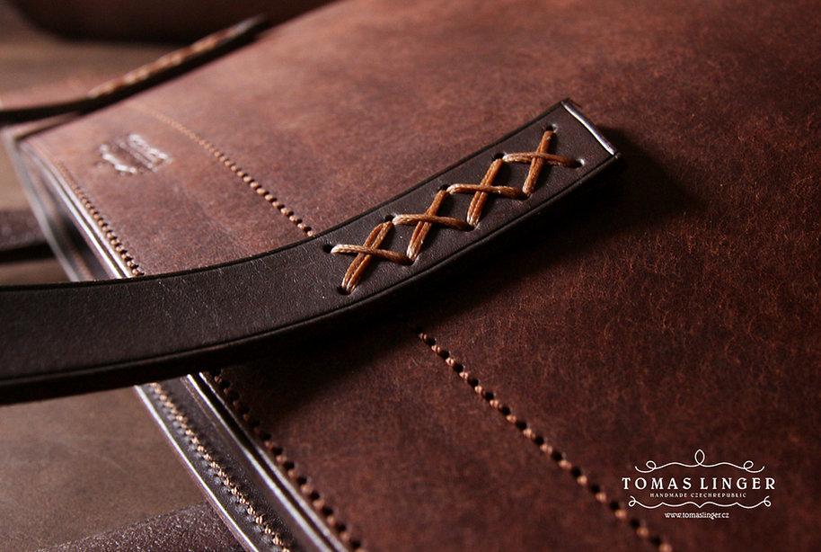 taška kabelka vyrobená na zakázku z kůže tomas linger