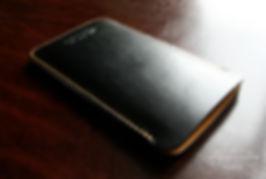 pouzdro pro iphone kůže žlutá černá