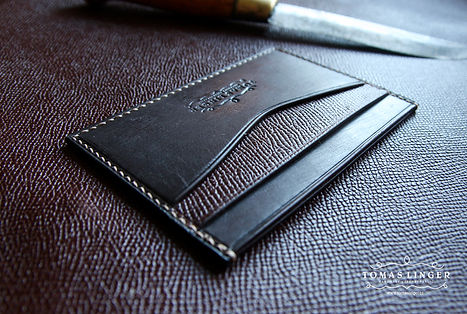 malá peněženka z pravé kůže pro karty bankovky