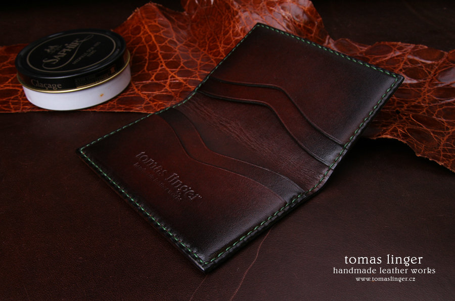 pouzdro vizitky platební karty kůže elegantní luxusní