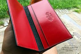 peněženka z kůže dokladovka 180 x 95 tomas linger