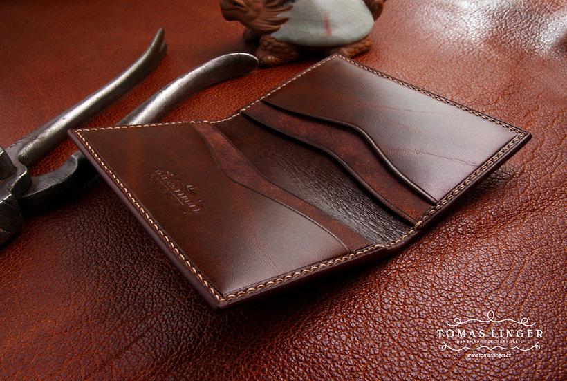 Kožené pouzdro na platební karty a vizitky + Váš monogram