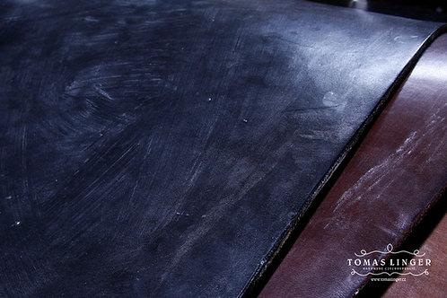 Opasek ručně vyrobený z Bridle OAK Bark Full Grain - J&FJ Baker - Black