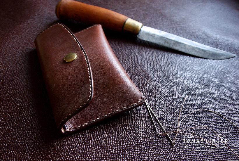Peněženka na drobné mince, bankovky a platební karty z 3 mm silné kůže