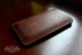pouzdro apple iphone hnědá kůže ruční práce