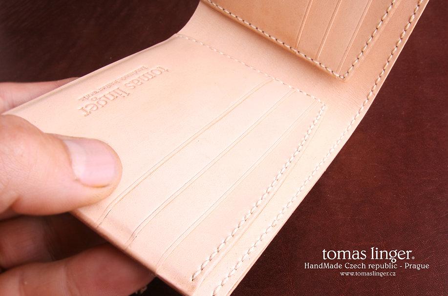 pánská peněženka ruční výroba česká republika bílá kůže