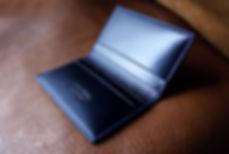 malá peněženka z kůže  na  karty