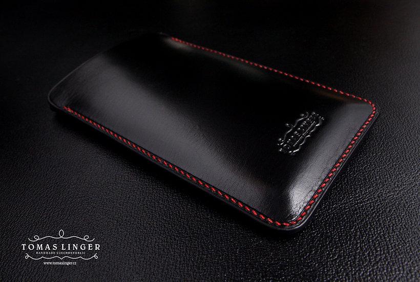 Pouzdro pro Apple iPhone z kůže - Černá Japan Leather