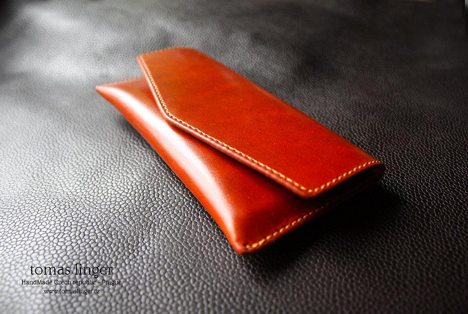Pouzdro mobilní telefon z kůže tomas linger