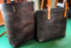 totebag kabelka z kůže
