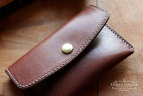 elegantní peněženka z pravé kůže ručně ušitá