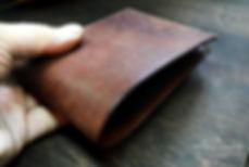 pásnká peněženka z kůže na zakazku ručně vyrobená