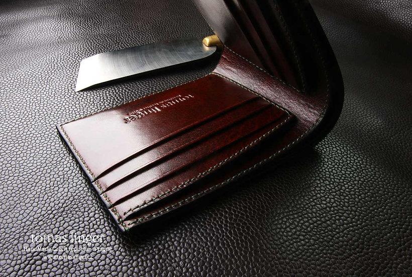 Peněženka z kůže pánská - klasika v nestandardním provedení.