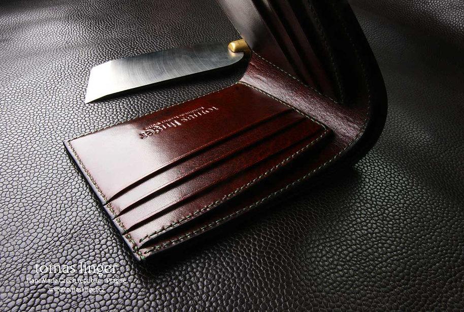 peněženka na zakázku z kůže luxusní dárek