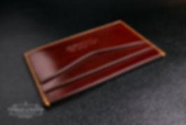 pouzdro pro karty a vizitky z kůže