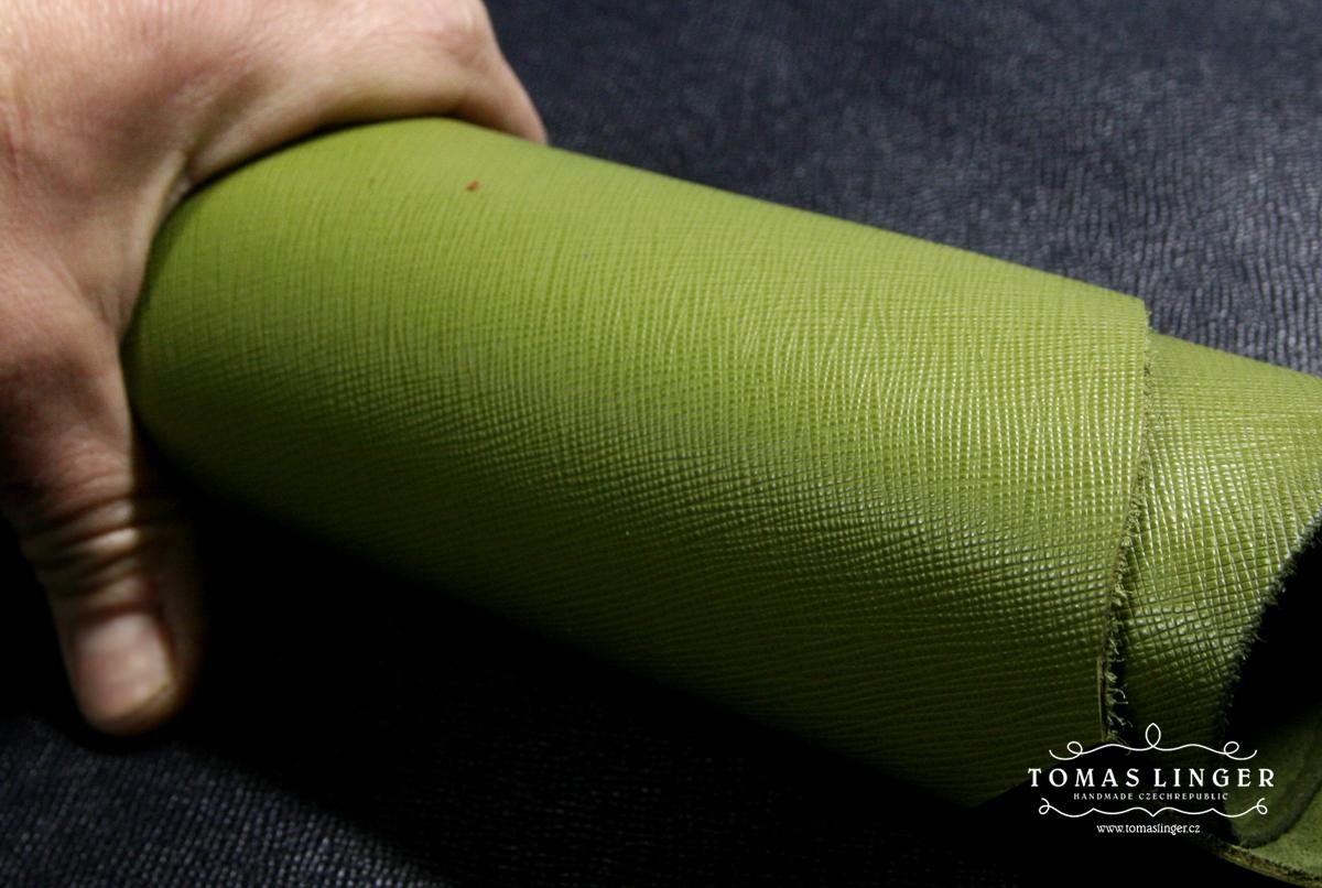 Pastelová zelená vzor Saffiano Gucci