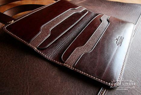 panska peněženka apouzdro pro iPhone z pravé kůže. ručně na zakázku. elegantí dárek pro muže