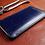 Thumbnail: Pouzdro pro Apple iPhone z kůže modrá Japan s kresbou vazů