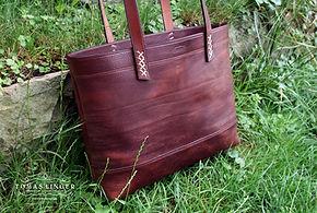 nákupní taška z kůže