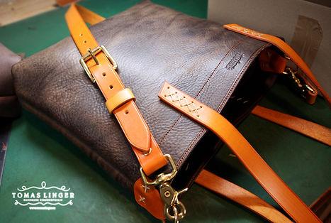 kabelka z pravé kůže ručně ušitá v českérepublice.
