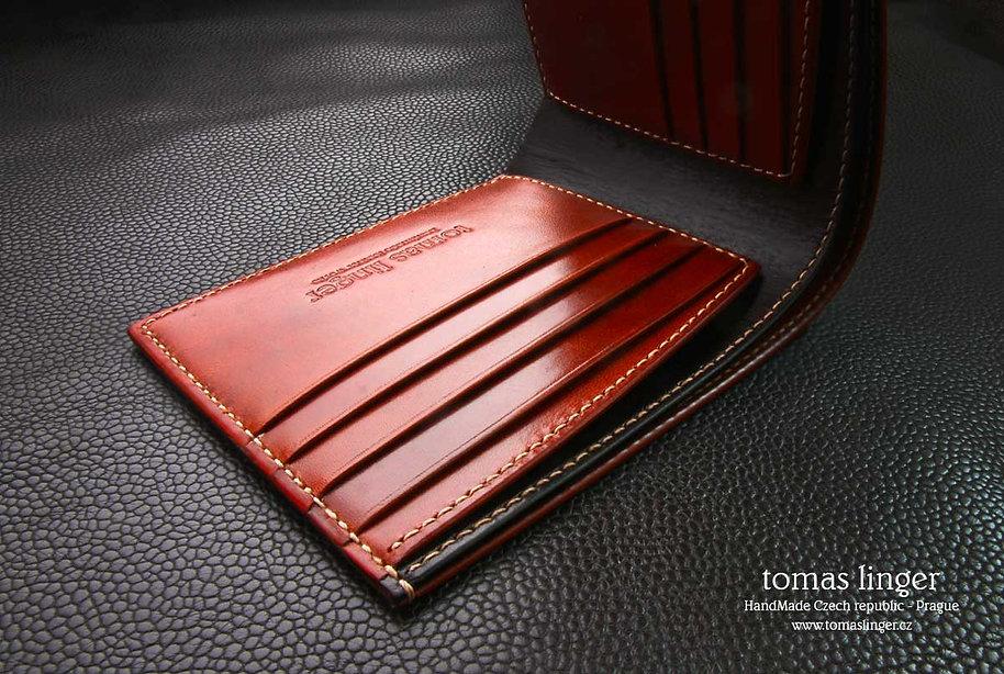 peněženka ve výrobě ruční práce tomas linger luxusní