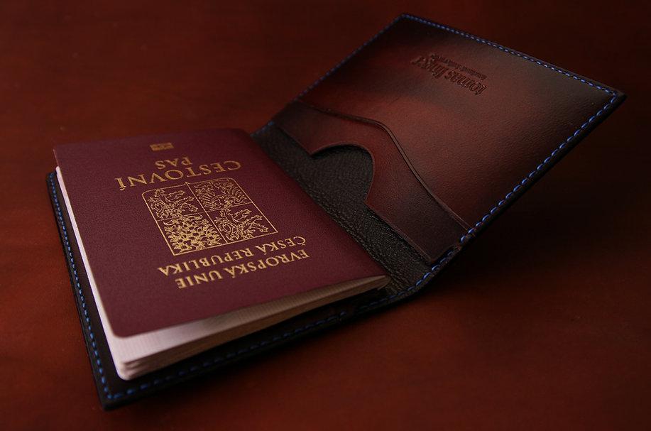 Pouzdro na pas obal pro pas z kůže elegantní ruční práce