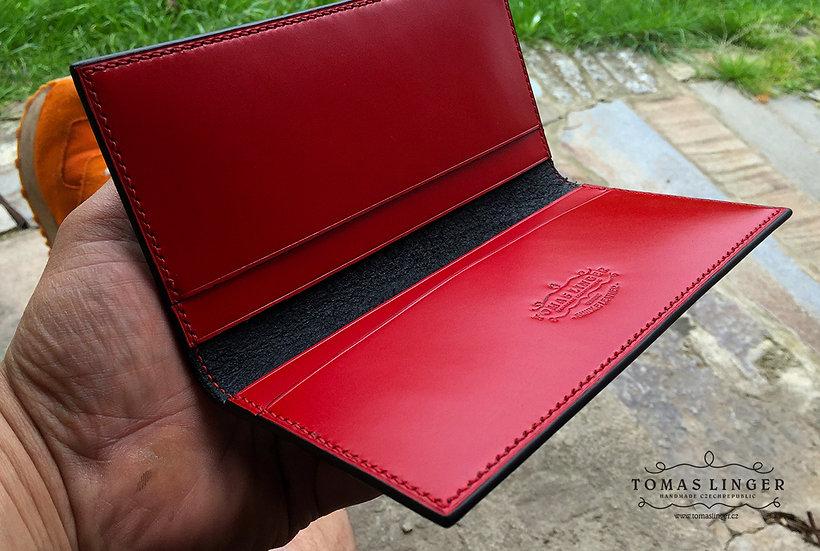 Kožená peněženka Old School (pouzdro pro telefon) 170 - 190 x 95 mm