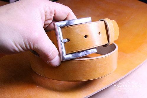 Opasek ručně vyrobený z Bridle OAK Bark Full Grain - J&FJ Baker - London Tan