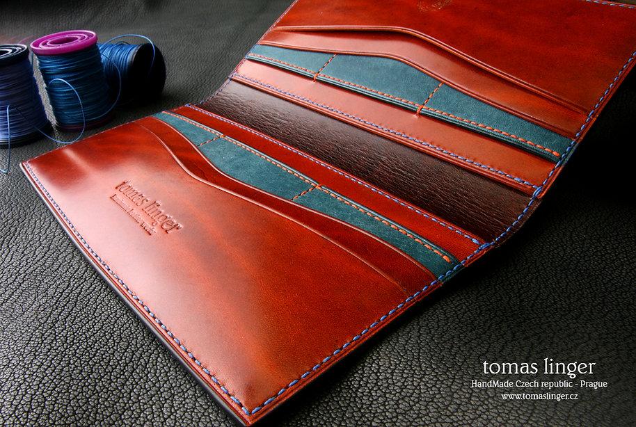 pásná peněženka z kůže zakázková výroba