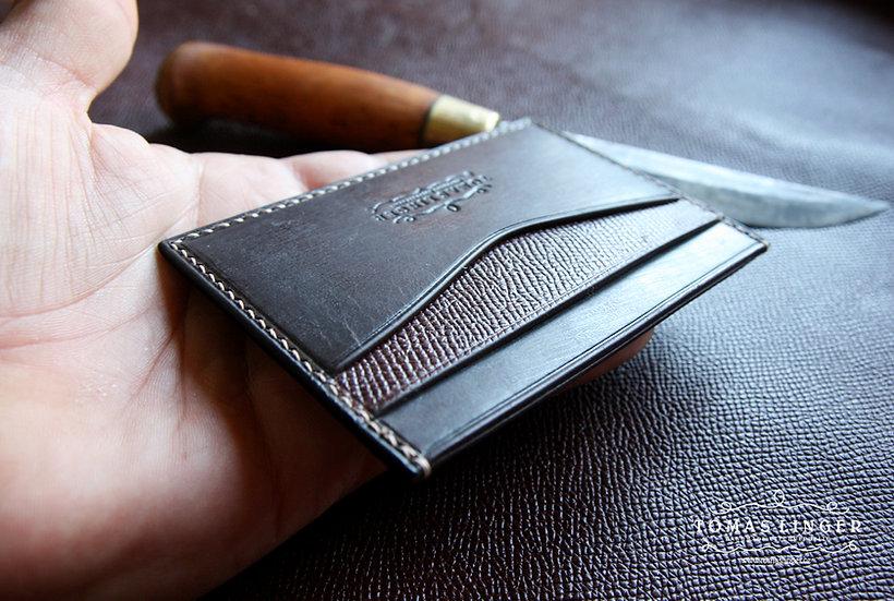 Peněženka z kůže - párty mini slim - více variant