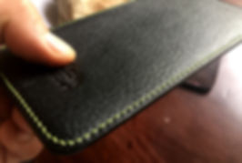 pouzdro pro apple iphone x černá kůže ručně vyrobené