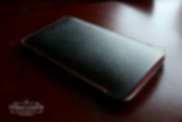 kozene pouzdro pro iphone kuze saffiano cerna