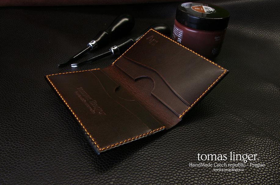 pouzdro z čokoládové kůže