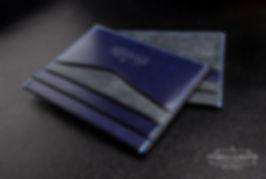 párty malá peněženka z kůže modrá elegantní