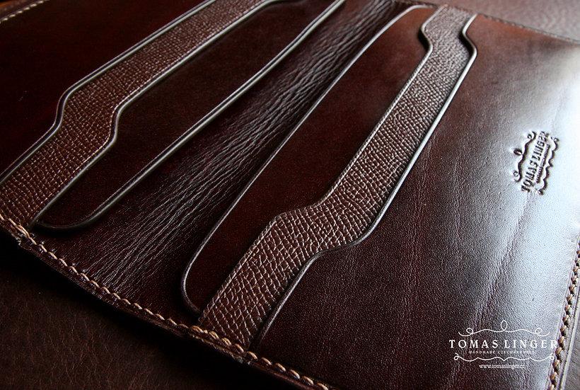 Kožená peněženka a pouzdro pro telefon, 170x100 a 190x100