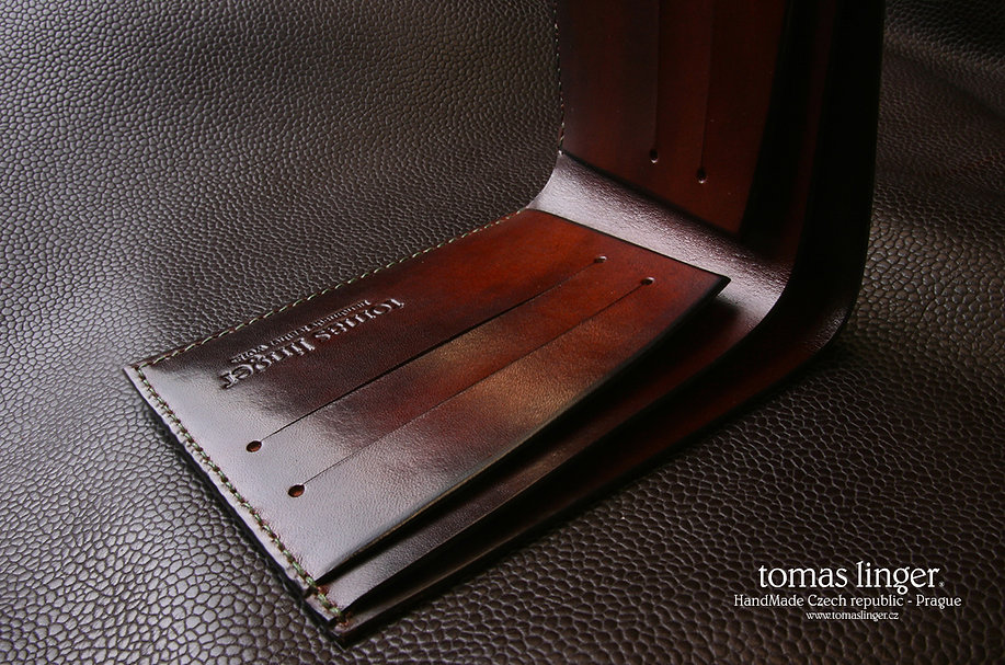 handmade leather wallet tomas linger patina
