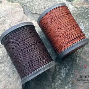 Royal  Drark Brown and Ligjht Brown - barva ručního šití na pouzdra pro telefon