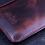 Thumbnail: Pouzdro pro Apple iPhone z kůže - voskovaná old Burgundy - Italská koželuž