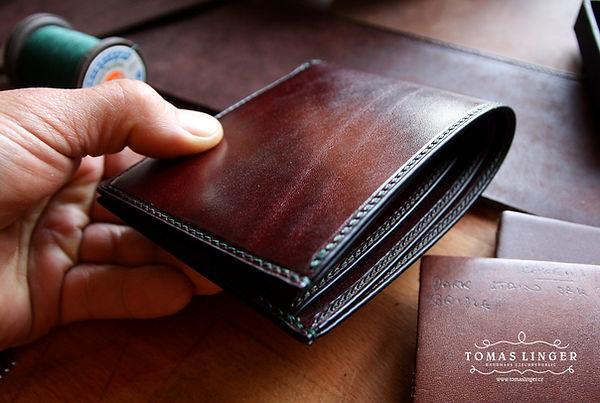 pánská peněženka z kůže ručně ušitá